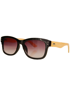 ECO UNIT.T  Wayfarer-Stil Sonnebrille – schwarz - woodlike