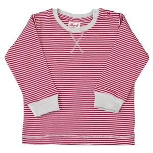 Baby Langarmshirt rot geringelt Bio Baumwolle People Wear Organic - People Wear Organic