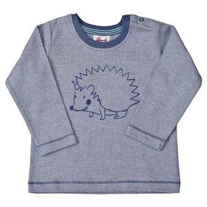 Jungen Langarmshirt blau melange Bio Baumwolle People Wear Organic - People Wear Organic