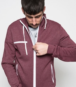 Sportlicher Sweater rot melange  - HOME EDITION