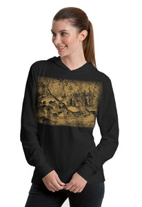 "Bio-Jersey-Hoodie ""peaceful herd of sheep"" - Peaces.bio - Neutral® - handbedruckt"