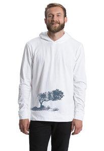 "Bio-Jersey-Hoodie ""Korsikatree""  - Peaces.bio - Neutral® - handbedruckt"