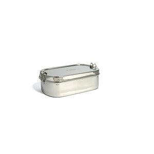 Goodies Box - Einlagiger Edelstahlbehälter mit Klippverschluss - ECO Brotbox