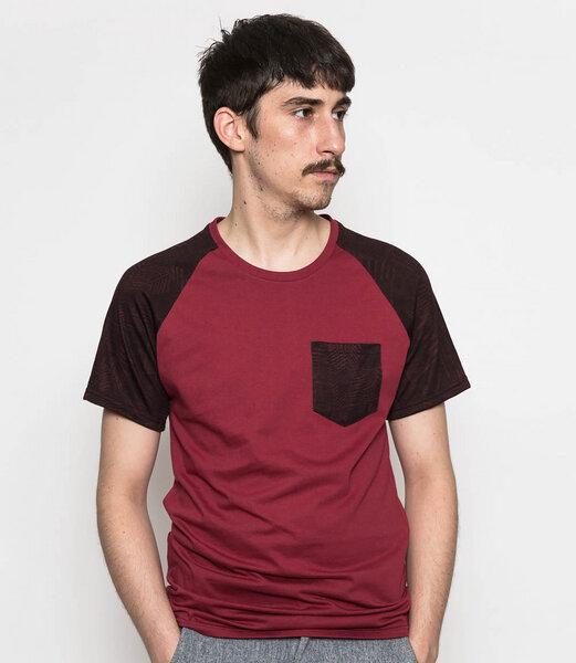 home edition t shirt mit brusttasche und print. Black Bedroom Furniture Sets. Home Design Ideas