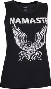 OGNX Yoga Tank Namaste Eagle Damen Schwarz - OGNX