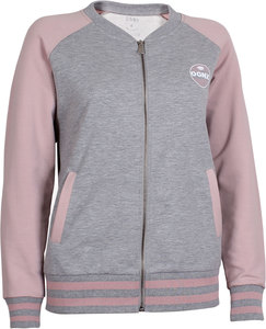 OGNX Yoga College Jacke Damen Grau Melange-Winter Rose - OGNX