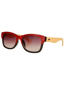 ECO UNIT.T  Wayfarer-Stil Sonnebrille – rot-schwarz - woodlike