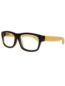 Eco Unit. T Optical Nerd Brille - schwarz  - woodlike