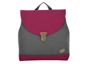 Leesha PrETty Upcycling Rucksack 'Quinn' in Antra-Bordo - Leesha
