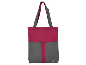 Leesha PrETty Tasche 'Jules' in Bordo-Antra / Upcycling PET Flaschen - Leesha