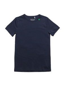 Kurzarmshirt Alfa Navy - Green Cotton