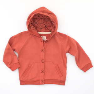 Sweat Jacke in 'Grau, Jeansblau, Terracotta - Pünktchen Komma Strich