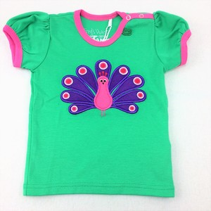 Kurzarmshirt Peecock - Green Cotton
