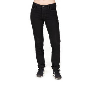Straight Fit Jeans Damen Schwarz - bleed