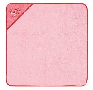 Kapuzenbadetuch Pony rosa 100 % Bio- Baumwolle  100 x 100 cm  - EGERIA