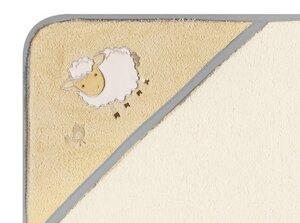 Kapuzenbadetuch Sheep beige 100 % Bio- Baumwolle  100 x 100 cm  - EGERIA