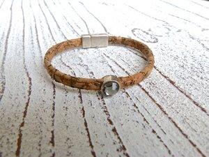Damen Armband aus Kork in natur beige - Charme-charmant