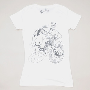 Women T-Shirt MOTHER NATURE weiss - MR. NELSON ecowear