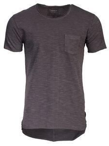 T-Shirt mit Leinenstruktur aus Biobaumwolle: JADEN - Trevors by DNB