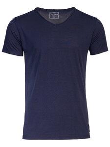 T-Shirt mit V-Ausschnitt: KENO - Trevors by DNB