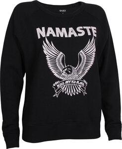 OGNX Yoga Sweatshirt Namaste Eagle Damen Schwarz - OGNX