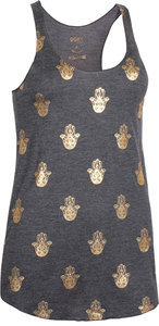 OGNX Yoga Loose Tank Hamsa all over Damen Anthrazit - OGNX