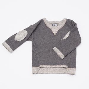 Sweat Pullover in Graumeliert - Pünktchen Komma Strich