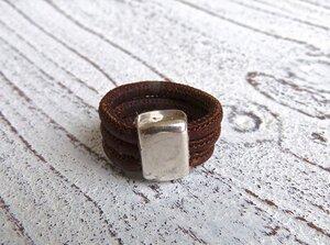 Damen Ring aus Kork in braun Zamak - Charme-charmant
