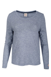 Langarm Shirt (blau geringelt) Rundausschnitt - People Wear Organic