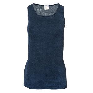 Wolle Seide Tank Top - dunkel blau  - People Wear Organic