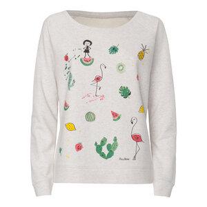 FellHerz Lovely Things Wide Neck Sweater cream heather grey - FellHerz