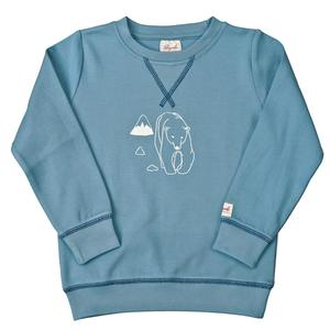 Sweatshirt - hellblau mit Druck - People Wear Organic