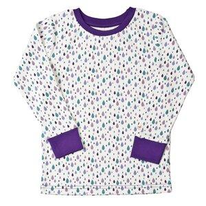 Pyjama - flieder mit Druck - People Wear Organic