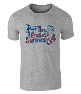 THE ENDLESS SUMMER - Surfin USA 1964 Grafik Unisex T-Shirt - offiziell lizenziert von Bruce Brown Films, S - XXL - California Black Plate