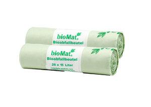 15 Lt. BIOMAT® kompostierbare Bioabfallbeutel - bioMat