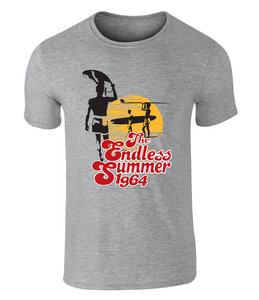 The Endless Summer T-Shirt - Perfect Sunset Grafik - offiziell lizenziert von Bruce Brown Films, S - XXL  - California Black Plate