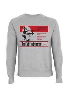 The Endless Summer Surf Reviews Grafik Unisex Raglan Pullover, S - XXL - California Black Plate