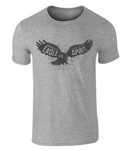 Vintage Style American Bald Eagle Spirit Badge Icon T Shirt - California Black Plate