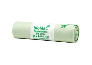 240 Lt. BIOMAT® kompostierbare Abfallsäcke - bioMat
