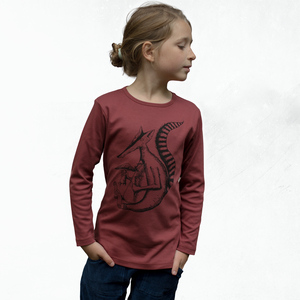 Duchs Langarmshirt für Kinder in apple butter - Cmig