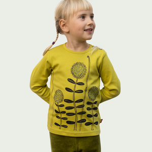 Waldblumen Langarmshirt für Kinder in antique moss - Cmig