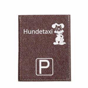 Originelle Parkscheibenhüllen Violan Hunde Taxi  - Metz-Textil Design