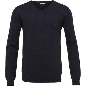 Basic V-Neck Cashmere/Cotton - GOTS - Total Eclipse - KnowledgeCotton Apparel