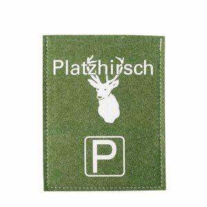 Originelle Parkscheibenhüllen Violan Platzhirsch - Metz-Textil Design