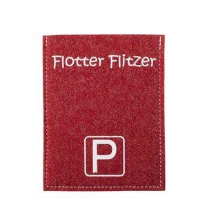 Originelle Parkscheibenhüllen Violan Flotter Flitzer  - Metz-Textil Design
