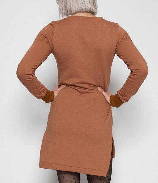 Fr ulein stachelbeere langes sweatshirt kleid in rost for Sweatshirt kleid lang
