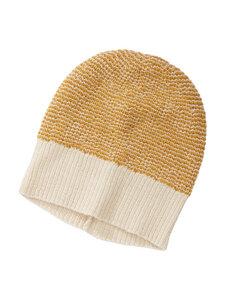Mütze - 100% Baby Alpaka - Yellow/White - Les Racines Du Ciel