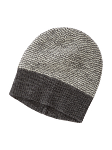 Mütze - 100% Baby Alpaka - Grey/White - Les Racines Du Ciel