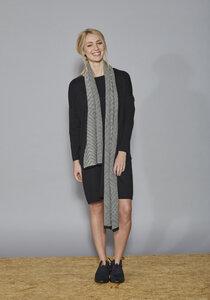 ISOLDE Organic Cotton Knit Scarf Jacquard  - Frieda Sand