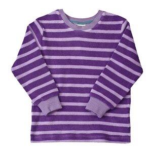 Frotteepyjama - violett geringelt - People Wear Organic